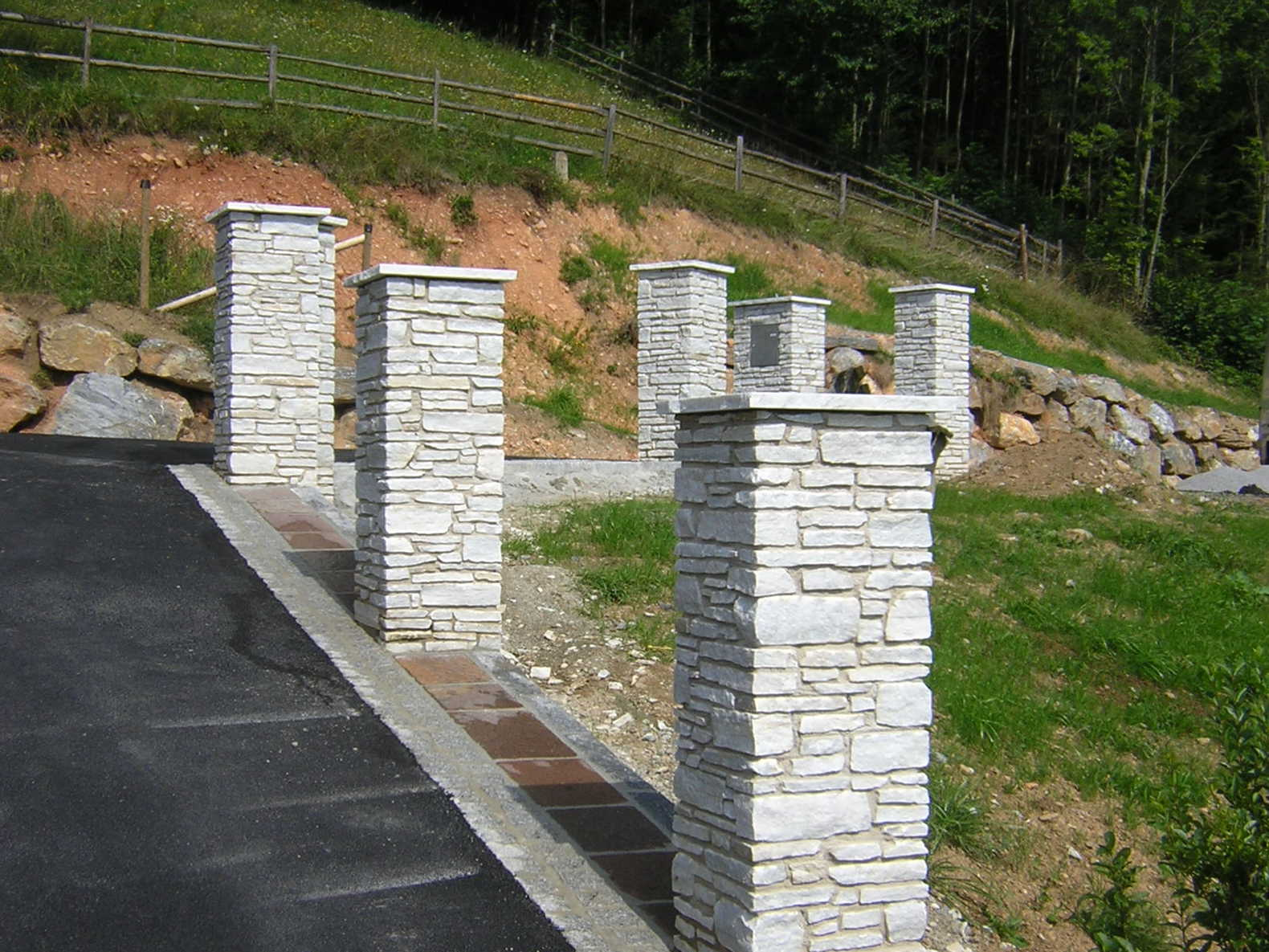 Mauerpfeiler steine